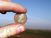 Клад распаханных монет
