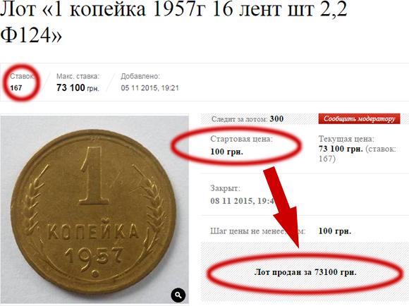Продано на Аукционе Виолити за 73100 грн